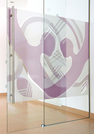 Glass Art sample 8 from Glas Gasser - Glass Doors, Glass Repairs, Glass Showers, Glass Walls, Glass Furniture, Glass Art, Printed Glass, Glass Canopies, Glass Interior Design, innovative and well proven Glass products for Tirol and Kärnten